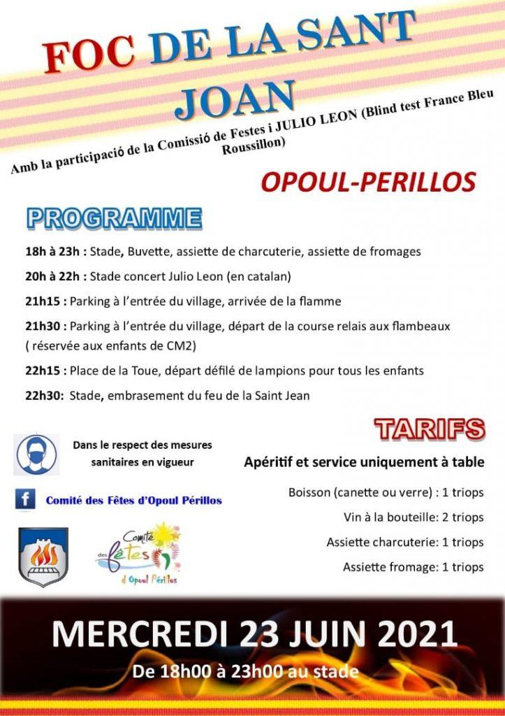 Affiche feu de la saint jean Opoul